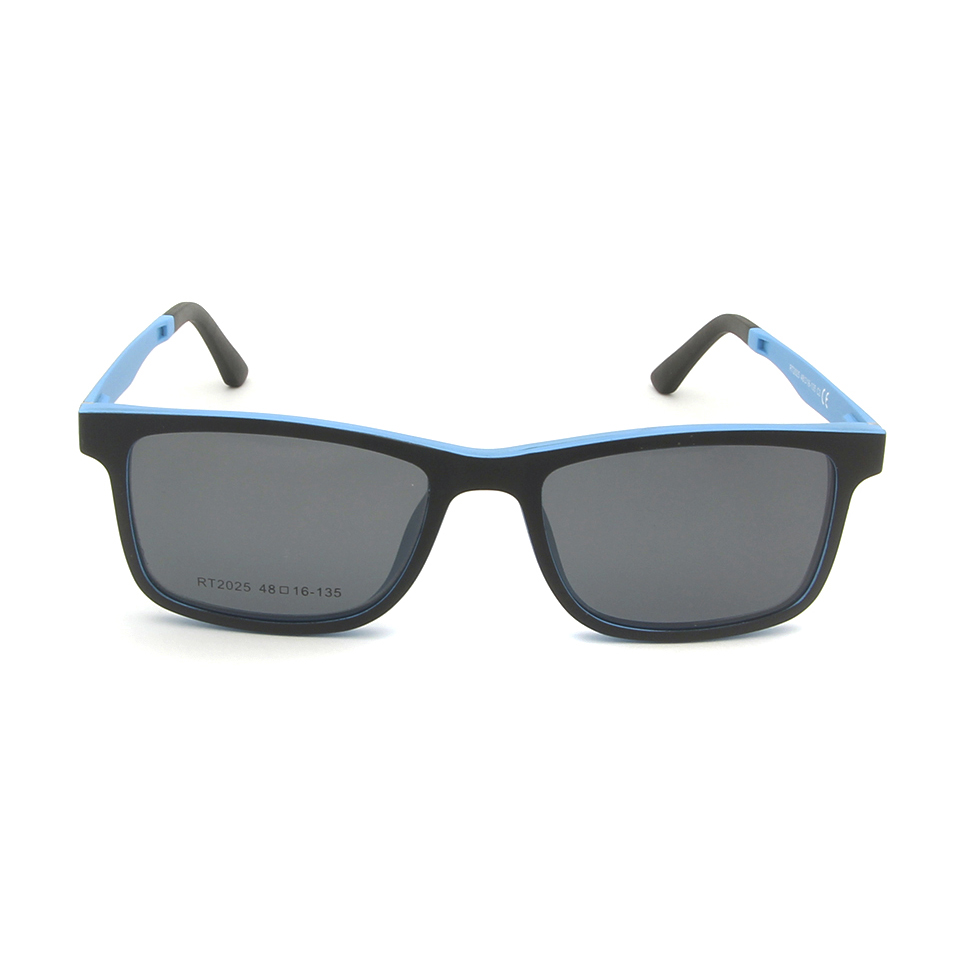 Image 3 - Ultralight Ultem Eyeglasses Frame Black Boys Girls Magnetic Clip Sunglasses Polarized Uv400 Square Prescription Myopia LensBoys Sunglasses   -