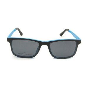 Image 3 - Ultralight Ultem Occhiali Da Vista Telaio Nero Delle Ragazze Dei Ragazzi Magnetica Clip di Occhiali Da Sole Polarizzati Uv400 Piazza Prescrizione Miopia Lente