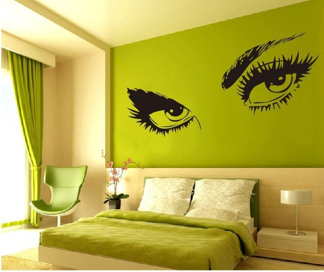 Smal Sexy Eyes Vinilos Decorativos Pared Mural On The Wall Stikers For Wall  Decoration 50*95cm Wall Sticker Bedroom Decoration Part 11