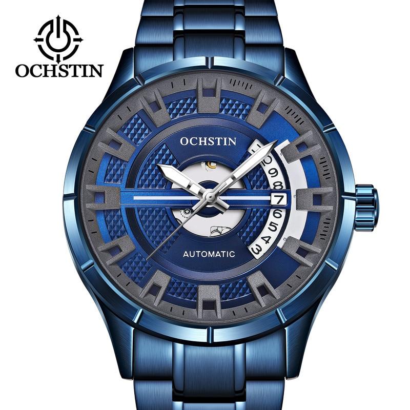 OCHSTIN Automatic Mechanical Mens Watch Top Brand Luxury Military Army Sport Wristwatch Stainless Steel Skeleton Male