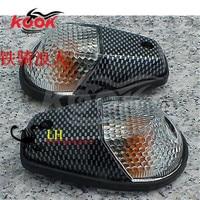 2 PCS Motorcycle LED light motorbike Turn Signal Light carbon firre Lens Winker For Kawasaki moto Accessories yamaha universal