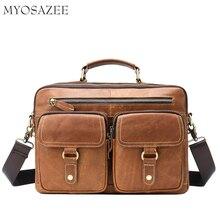 New Men's Leather Slant Bag Retro-cowhide Single Shoulder Bag Handbag