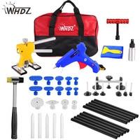 WHDZ PDR Kit Tools Car Paintless Dent Removal Dent Lifter Puller Hot Melt Glue Gun Pulling Bridge Rubber Hammer Dent Repair Tool
