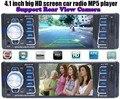 4.1 ''car radio stereo jogador do bluetooth aux telefone-in mp3 fm/usb/1 din/controle remoto para iphone 12 v áudio do carro auto rádio coche