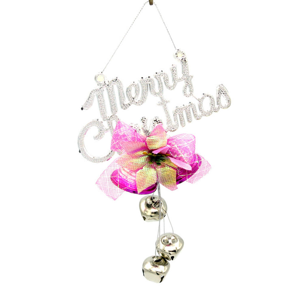 Letter Christmas Tree Topper: Christmas Tree Decorations Party Pendant Letter Slogans