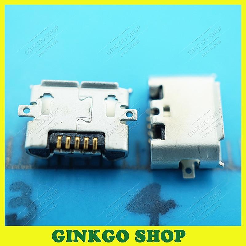 ᗚ20 unids/lote original Foxlink micro USB Jack de carga del zócalo ...