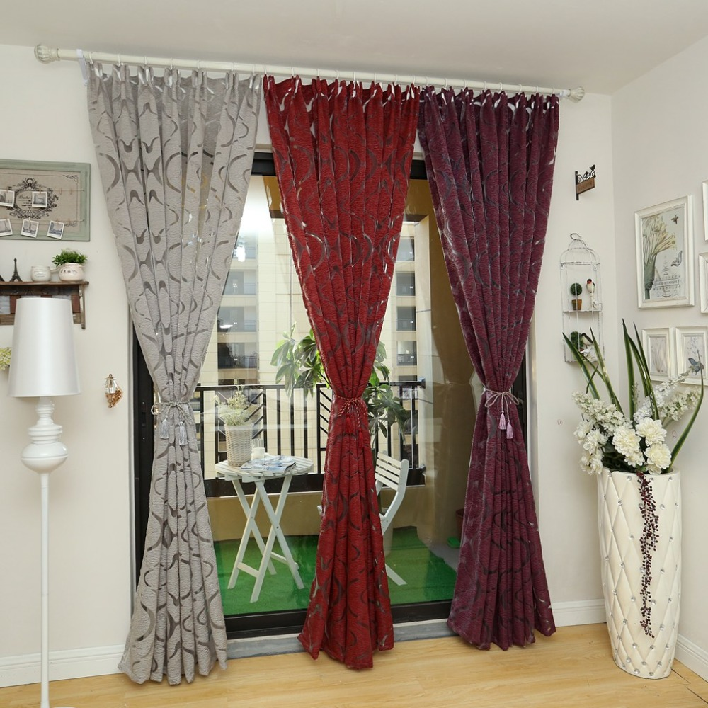 Modern curtain red purple 3d curtains home decoration bedroom ...