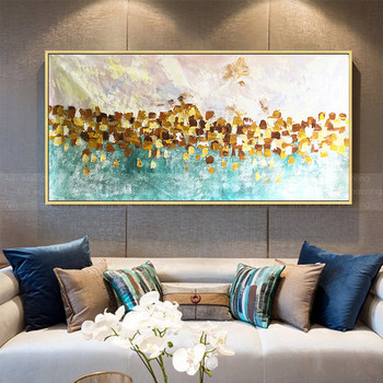 Gold art painting on canvas living room painting home decoration painting abstract wall art pictures acrylic texture wall decor