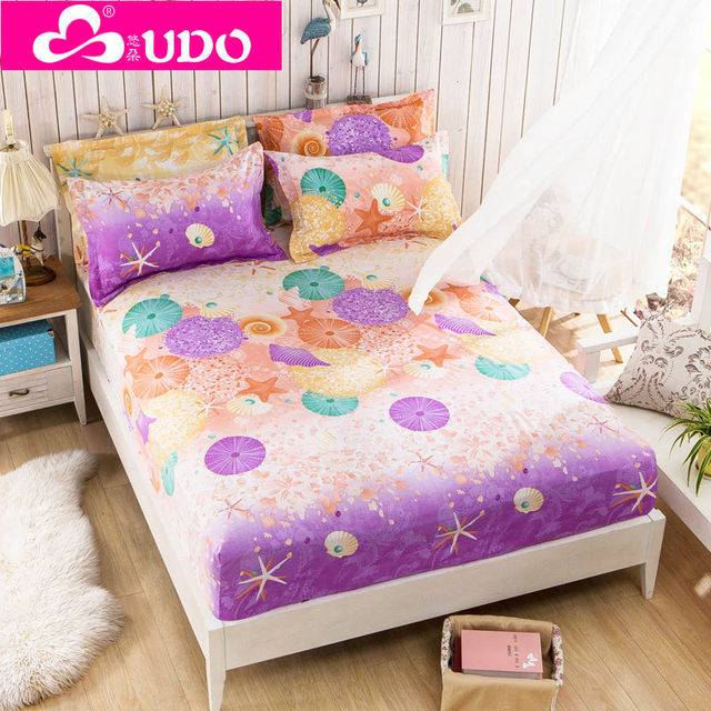Home Textile Colored Mattress Cover Bed Ed Sheet Topper For S Full