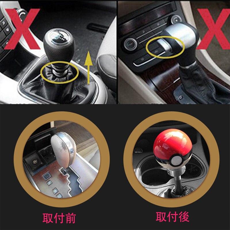 12/mm 10/mm Spring testa del bastone pomello del cambio a leva con 3/adattatori 8/mm Universale manuale 5/velocit/à pomello del cambio per auto