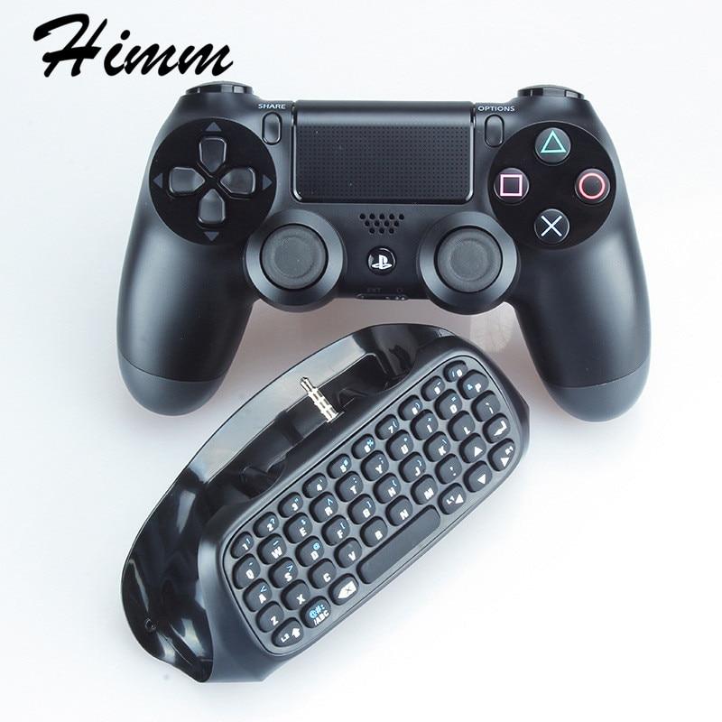 Amable 3,5mm Enchufe Negro Mini Teclado De Mensaje Inalámbrico Para Controlador Ps4