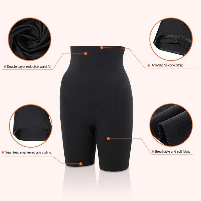 HEXIN Seamless High Waist Tummy Control Boyshort Panties Shapers Slimming Butt Booty Lifter Body Shaper Briefs Women Underwear 2