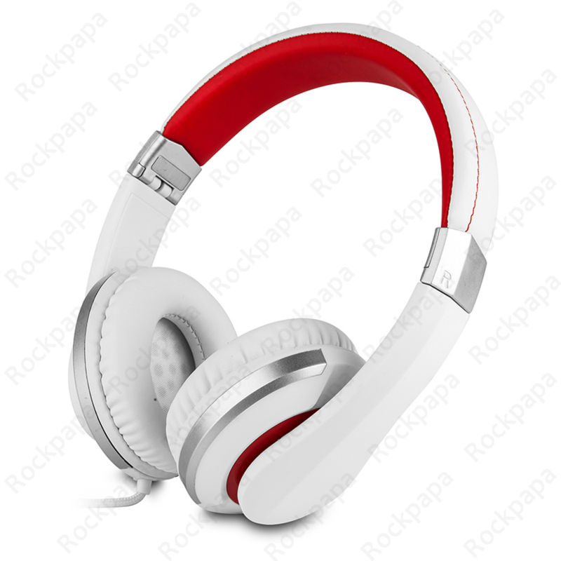 kanen i20 White Foldable Stereo Adjustable Dj Style Headphones Headset with Microphone for iPhone iPod Mp3