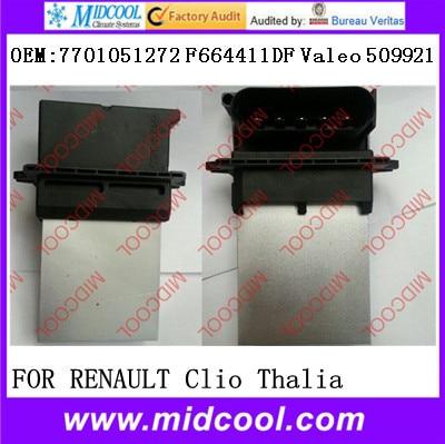 High Quality Blower Motor Resistor Regulator OEM:7701051272 F664411DF Valeo 509921
