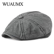 9dd7908c76cb8 Wuaumx Casual Eight-blade Cap Octagonal Hats For Men Newsboy Caps Painters  Hats Cotton Berets
