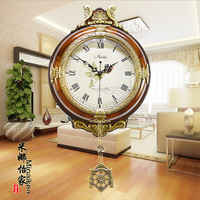 Tuda Free Shipping European Style Wooden Wall Clock Creative Fashion Wall Clock Retro Swing Watch For Living Room Home Decor