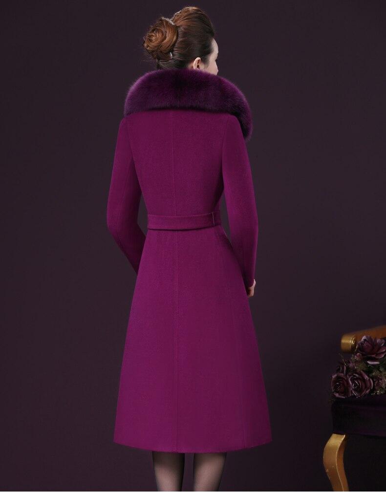 2018 Laine Longue La Taille Manteau purple Veste W558 Femmes D'âge Renard Wine Red camel 4xl Moyen Fourrure Plus Col black Mince Pardessus blue Hiver Nouvelle Imitation De dv5f0wT8qx
