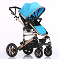 2016 новые хорошие амортизаторы двух-ходовой детские коляски складной детские коляски с 2 пневматический колесо + 2 EVA колеса