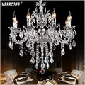 Classic Crystal Chandelier Candle Lighting Fixture Golden or Silver Lustre Crystal Hanging Lamp MD8861