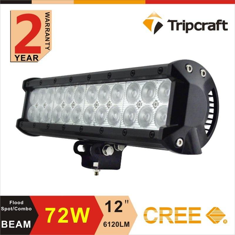 ФОТО Hot Sale 1pc 12INCH 72W CREE Rivet LED Light Bar Off-Road 4WD Truck SUV ATV 4x4 12v Spot Flood Combo Super Bright High Quality