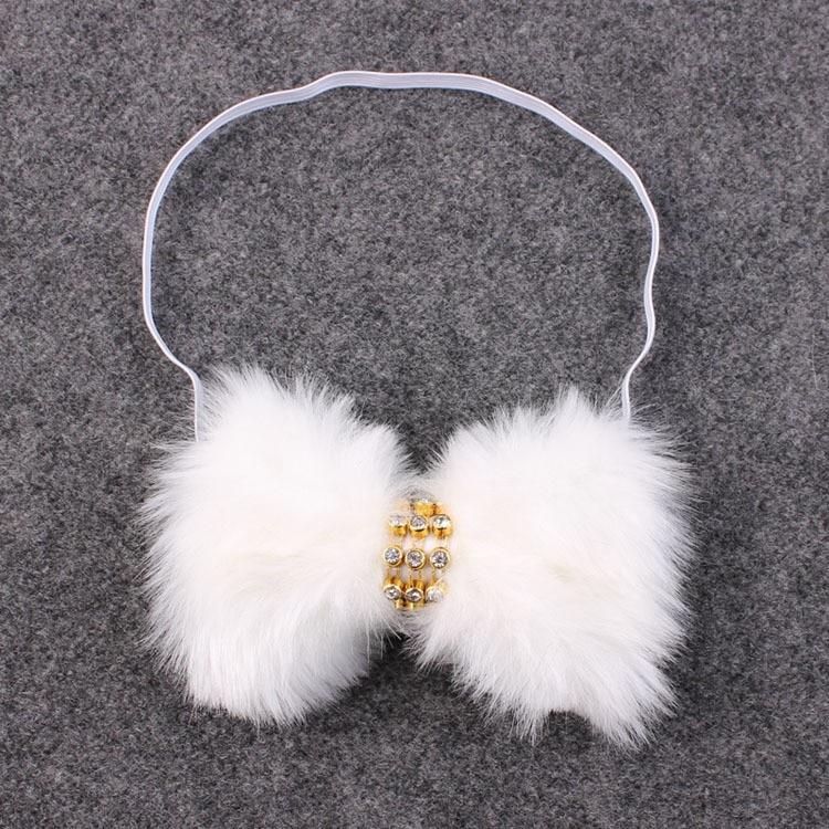 3 pcs Baru Lahir Kristal Batu Bando Busur Besar Bulu Kelinci Bando - Aksesori pakaian - Foto 3