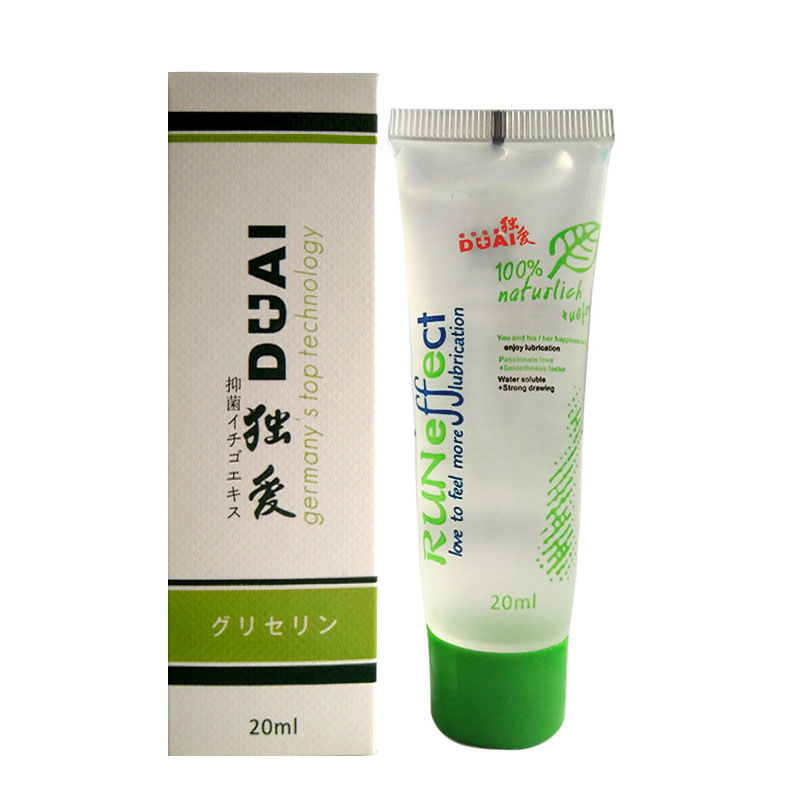 Buy DuAi High quality  water based anal sex lubricant 20ml vaginal lube massage oil lubrifiant plant lubricantes sexuales