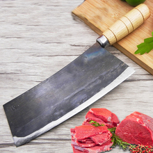 Liang Da high grade handmade carbon steel kitchen chef knife slicing meat knife+craft +cut bone+ Chef Knife +Kitchen Accessories