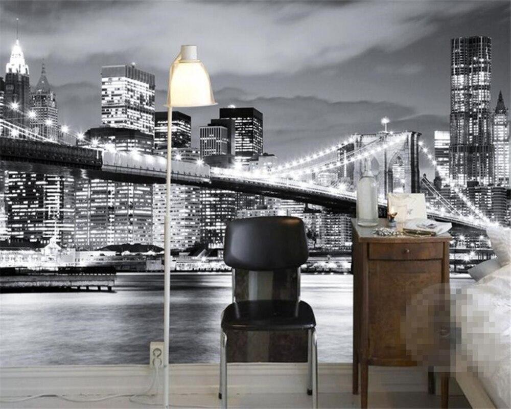 Slaapkamer New York : Beibehang aangepaste behang woonkamer slaapkamer muurschildering