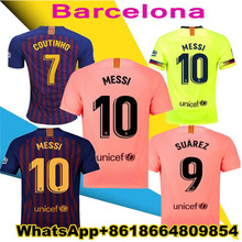 ccb5af770d555 2018 Barcelona 2019 MESSI SUAREZ Jersey de fútbol 18 19 Camisas Rosa  Dembele Messi COUTINHO casa azul camiseta de fútbol