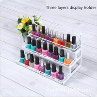 Nail Polish Shelf Mater Cosmetic Varnish Display Stand Rack Holder Women Makeup Organizer Case Lipstick In