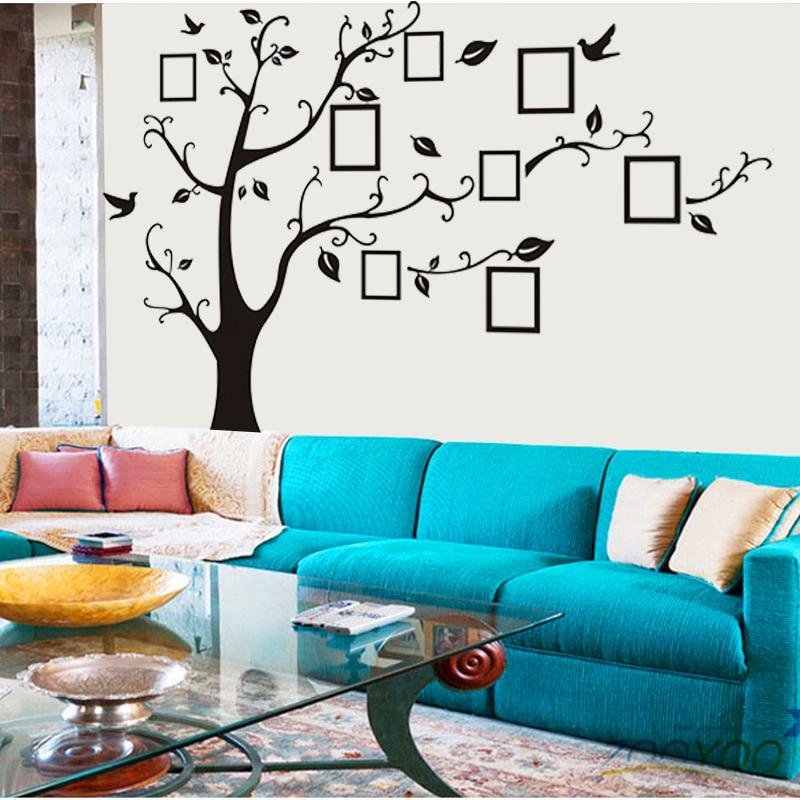 3designs μικρές / μεσαίες / μεγάλες κορνίζες φωτογραφιών οικογενειακό δέντρο τοίχο αυτοκόλλητα τέχνες zooyoo94ab διακοσμήσεις σπιτιού σαλόνι decals αφίσες