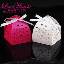 50Pcs Laser Cut Bear Animal Baby Shower Candy Box Party Favors Gift Box Favors Box Wedding Box For Party Supplies
