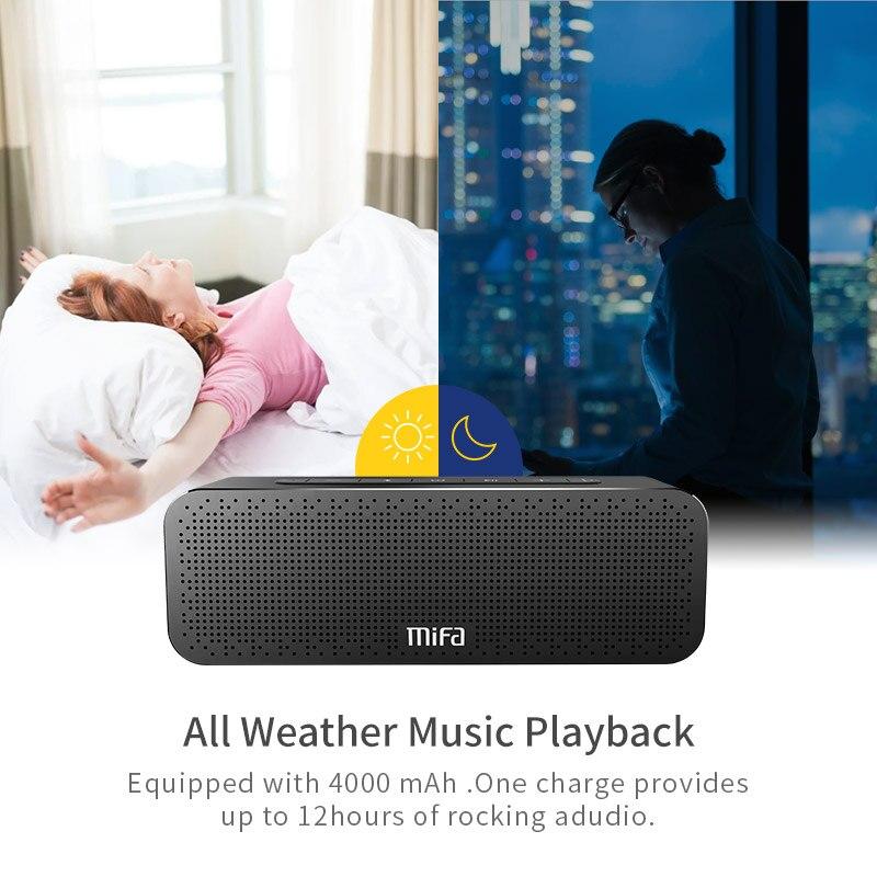 MIFA A20 Altavoz Bluetooth Metal portátil Super Bass altavoz inalámbrico Bluetooth4.2 3D sonido Digital altavoz Handfree MIC TWS - 6