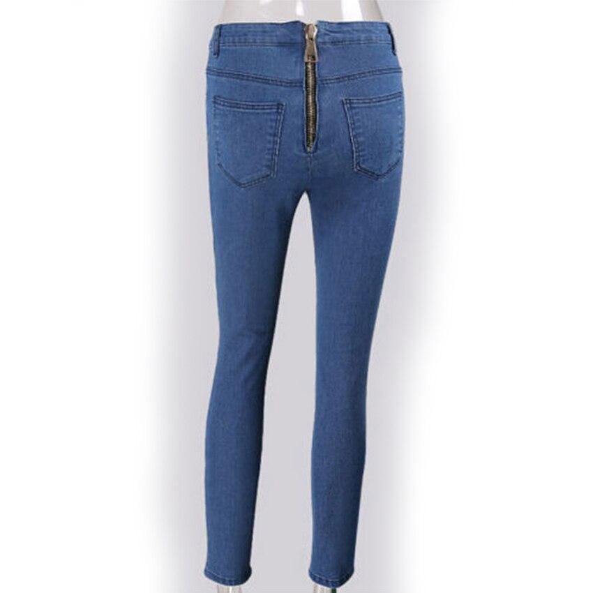 Plus Femmes Bleu Nouveau Pour Hot Boyfriend Fermeture Taille 2018 Sexy Dames Jeans Vintage Éclair Pantalon Moulant Hanche awZPxTq4