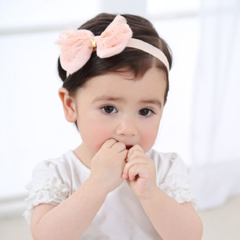 Naturlawell Elastike flokësh Fëmijët Vajza Veshja me Shirita Leshi Dantel Stars të Shtypura Turban Knot Vesh kokë Për Foshnja Proporcion HB051S
