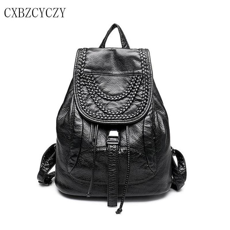Designer Women's Backpacks Sheepskin Genuine Leather Female Backpack Women School Bag For Girls Large Shoulder Travel Mochila