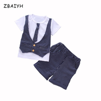 Summer Boys Kids Clothes Sets Fashion Design Pattern Casual Cotton 2 Pieces Children Korean Fashion T