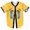 Emoji Chorando Cara Engraçada Dos Homens Unisex Botões Jérsei De Basebol Camisa 3D Camisas Streetwear Hip Hop Ganhos Homme Roupas de Marca