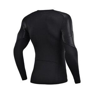 Image 5 - (Break Code) li Ning Men ฐานชั้นที่แห้ง FIT 88% โพลีเอสเตอร์ 12% Spandex แขนยาวซับกีฬาเสื้อยืด AUDN141 MTL1002
