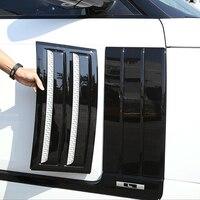 Fender side outlet vent Shark gills sticker cover trim for Land Rover Range rover vogue SVO Exterior Parts Accessories Chrome