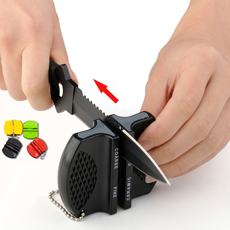 ONEUP Mini Ceramic Rod Knife Sharpener Two-stage Tungsten Portable Butterfly Type Whetstone Sharpener Sharpening Knives Stone(China)