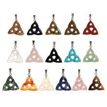 Colgante de triángulo para tallado de piedra Natural, Péndulo de chacra, 12 unidades por lote, envío gratis