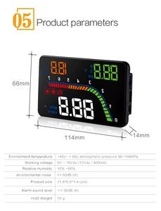 Image 3 - عداد السرعة الرقمي للسيارات بشاشة عرض 4 بوصة T100 HUD ، نظام تحذير السرعة الزائدة OBD2 ، جهاز عرض عاكس للزجاج الأمامي