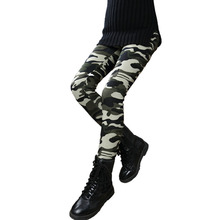 2017 New Baby Girls Winter Velvet Warm Thick Leggings Full Length Camouflage Pant Trousers Kids Casual Elastic Waist Pencil Pant