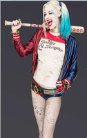 Adult Halloween Harley Quinn Costume Suicide Squad Daddy's Lil Monster Batman Clown Harleyquin Cosplay Fancy Dress