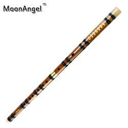 bamboo flute MoonAngel CDEFG 5 Keys Chinese Knot Dimo velvet bag Black Line Chinese Traditional Musical Instrument