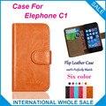 ¡ Caliente! 2016 Caso Elephone C1, 6 Colores de Alta Calidad de Cuero Caso Exclusivo Para Elephone C1 Cubierta de Bolsa de Teléfono de Seguimiento