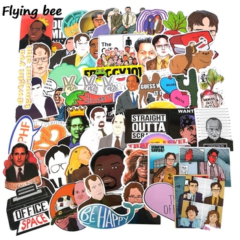 Flyingbee 62 Pcs office funny staff Stickers for DIY Luggage Laptop Skateboard Car Bicycle Waterproof Sticker X0307 46 pcs set the office funny stickers waterproof stickers for suitcase luggage laptop diy sticker pvc skateboard sticker g0172