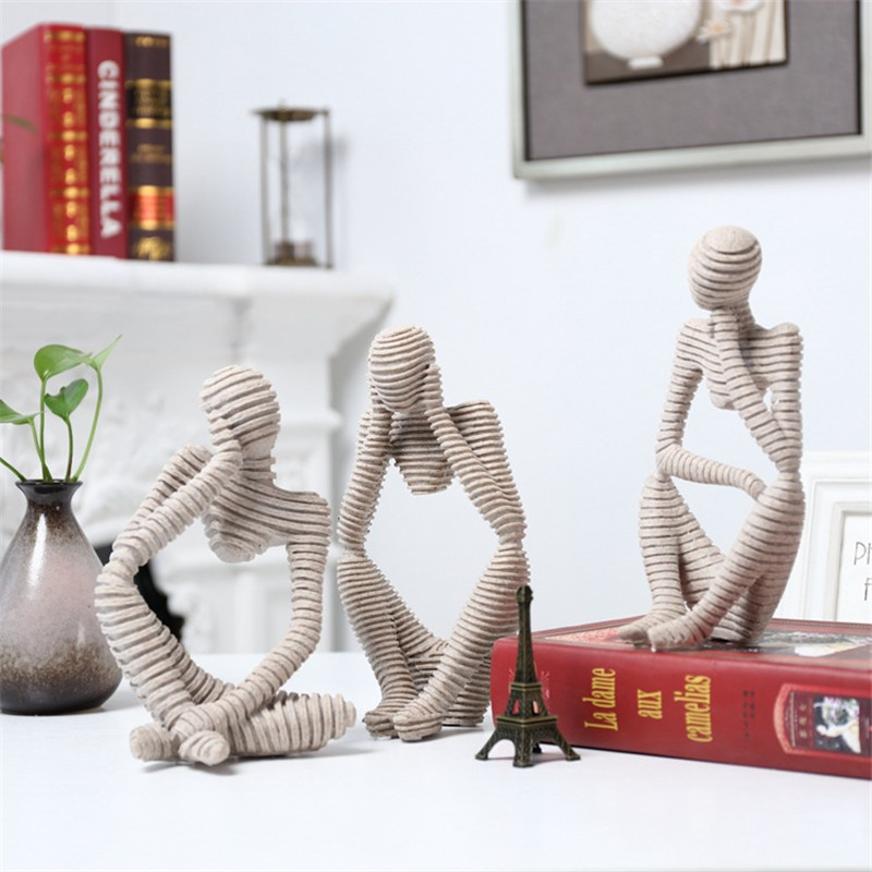 Abstract Character Decoration North European Creative Home Ornament Drawing Room Office Sandstone Decor