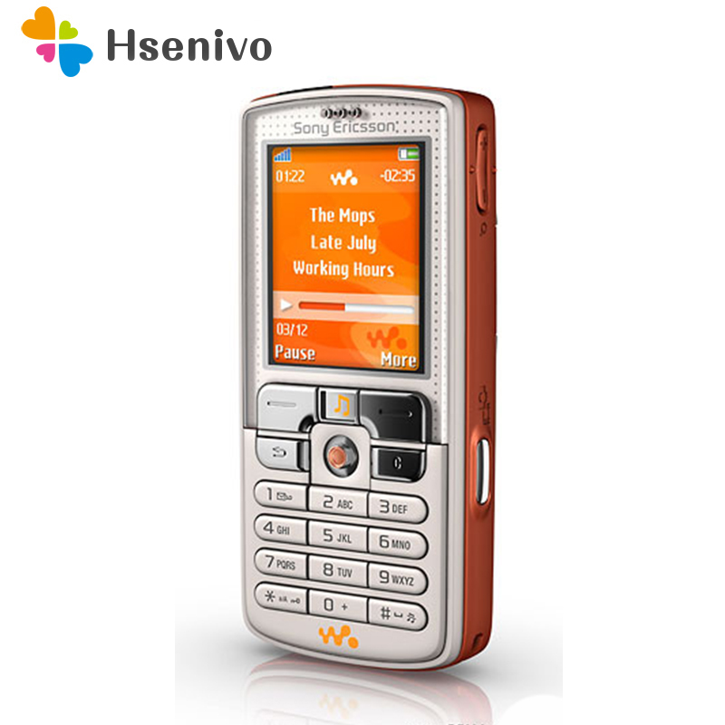 W800 100% Original Unlokced Sony Ericsson W800i W800Mobile Phone 2G Bluetooth 2.0MP Camera FM Unlocked Cell Phone Free Shipping